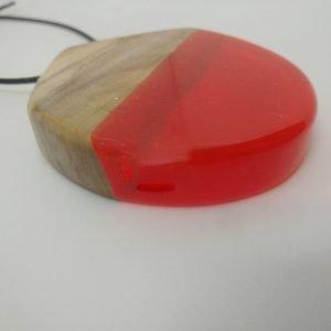 Κρεμαστό από ελιά και πορτοκαλί διάφανη ρητίνη 7,0x5,0x1,5 εκ.