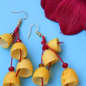 Σκουλαρίκια καμπανάκια από κουκούλι 10
