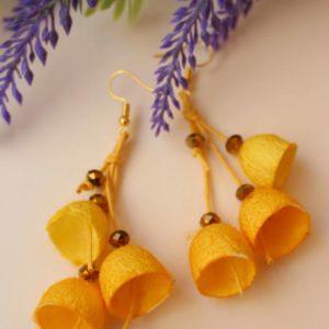 Σκουλαρίκια καμπανάκια από κουκούλι 8
