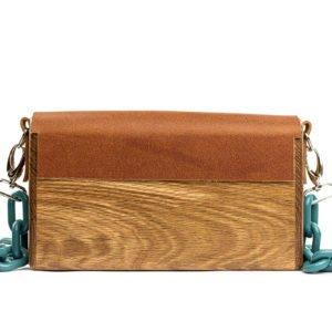 Χειροποίητη ξύλινη τσάντα Serifos- R&M