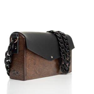 Χειροποίητη ξύλινη τσάντα Λήδα - R&M